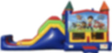paw patrol combo bounce house for rent