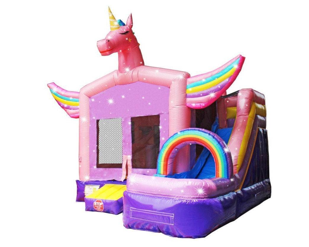 Sparkling Unicorn Combo Bounce House