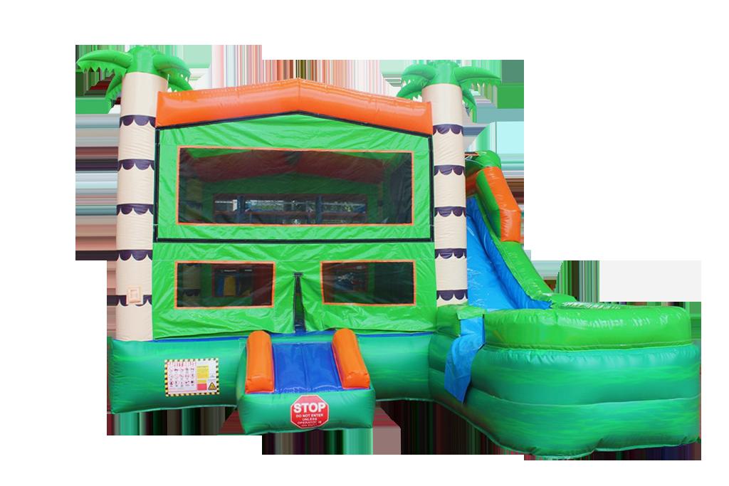 Tropical Combo Bounce House