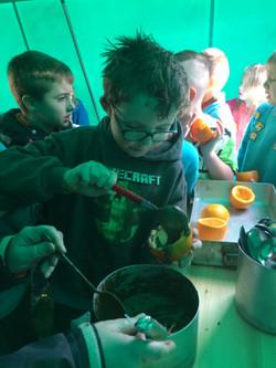 Making orange cakes 1.JPG