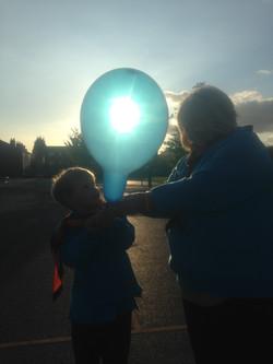 Badger's balloon grew & grew