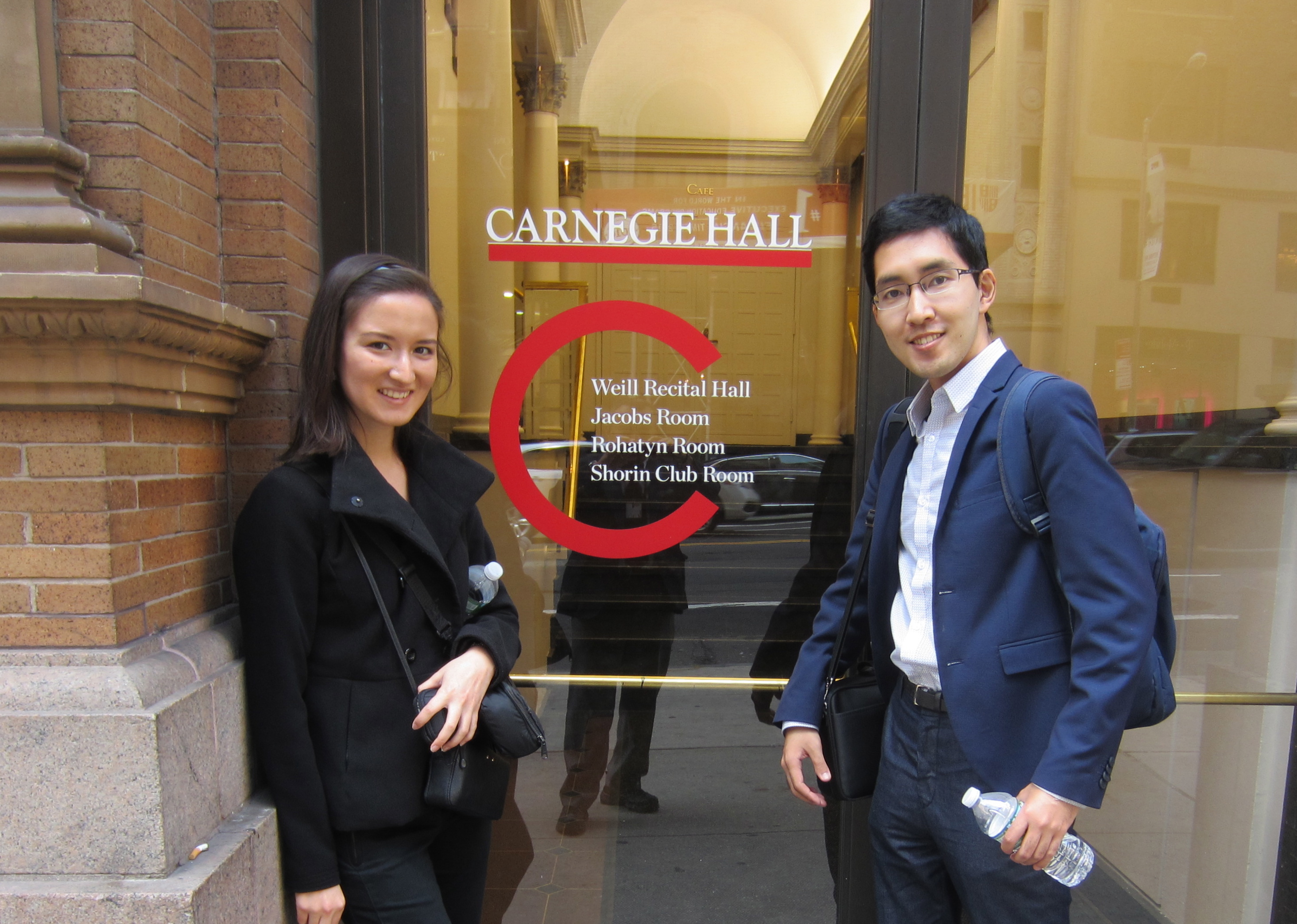 We are here at Carnegie Hall!