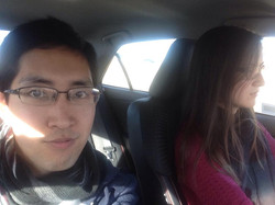 Ayca's first time driving in the US!