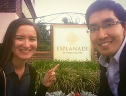We're here at Esplanade!