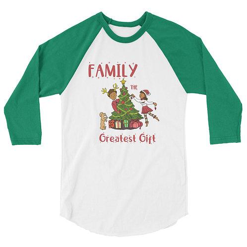 Family - 3/4 sleeve raglan shirt
