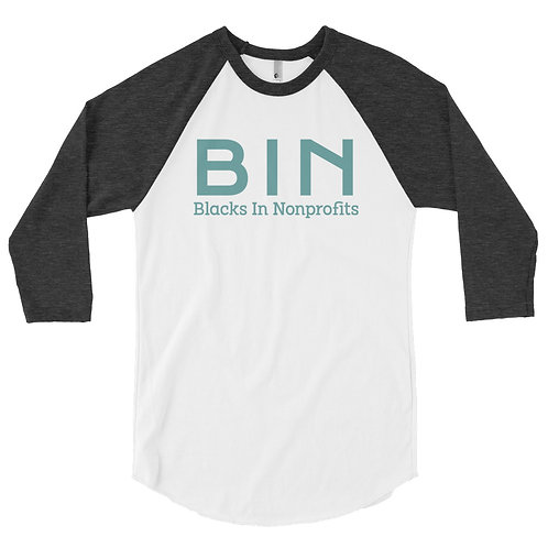BIN men's 3/4 sleeve raglan shirt