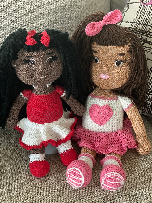 Homemade Crochet Dolls (Valentines)