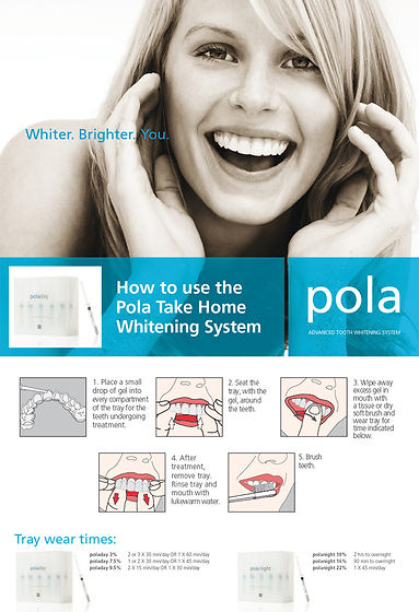 tooth whitening pamplet