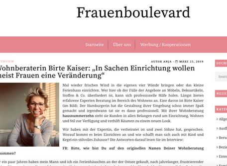 """Interview im Online-Magazin """"Frauenboulevard"""""""