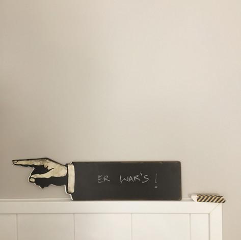 Schild Tafel, Finger, Zeigefinger Kreise Küche