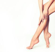 Beautiful well-groomed female legs . Foo