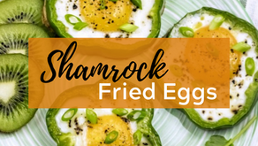 Matcha Tahini Latte & Shamrock Fried Eggs