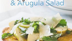 Crispy Socca with Pear & Arugula Salad