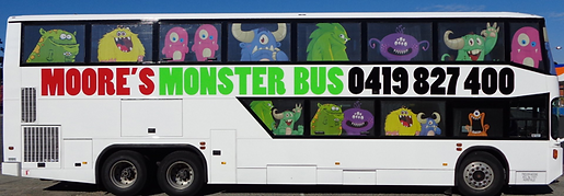Bus Route & Charter Service, Sydney. Home to the Moore's Monster Bus