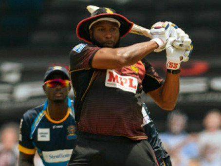 Comeback of Keiron Pollard!! Hits 72 of just 28 balls including 9 sixes and 2 fours.