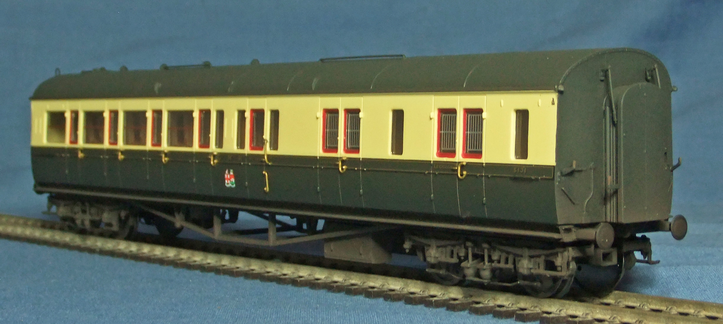Hornby Collett coach, weathered - 2