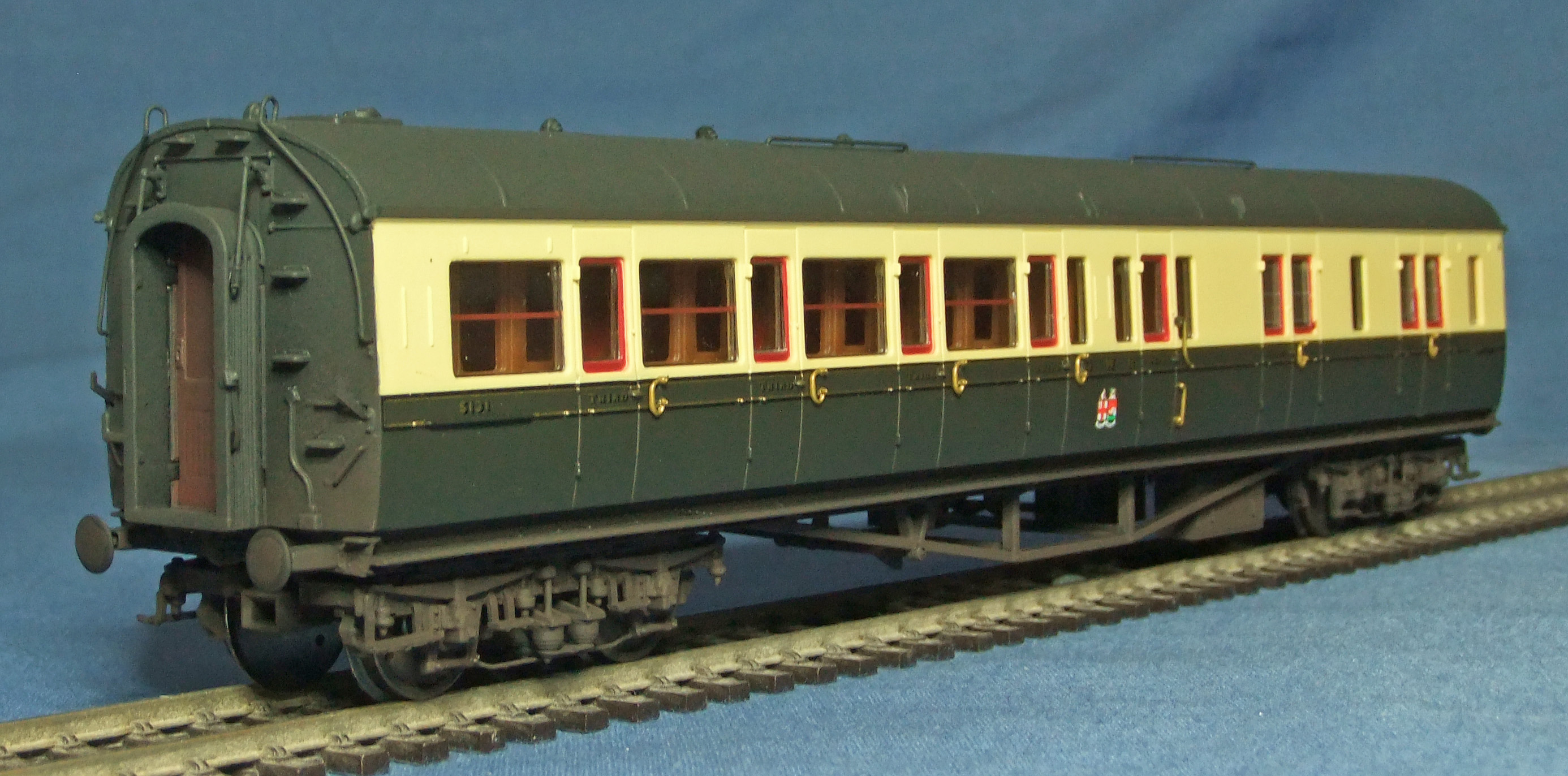 Hornby Collett coach, weathered - 1