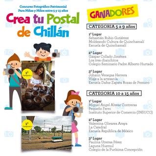 """Estos son los ganadores del concurso """"Crea tu Postal de Chillán"""""""