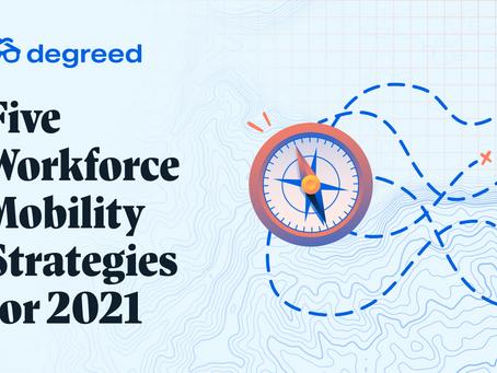 5つのモビリティ戦略のうち、貴社が2021年に適用するのは?