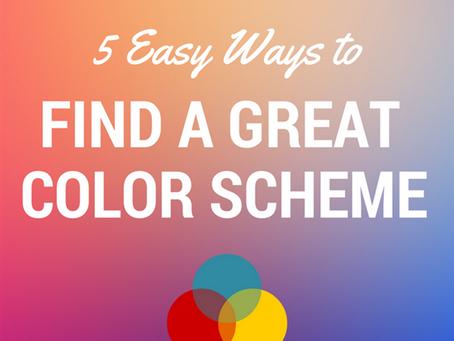 簡単に素晴らしい配色を見つけることができる5つの方法