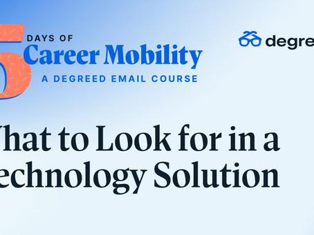 キャリアモビリティ:テクノロジーソリューションで何を探すべきか