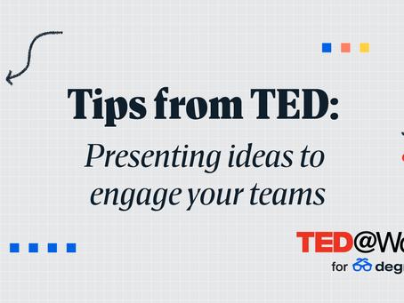 TEDからのヒント:チームをエンゲージするアイデアをプレゼンする