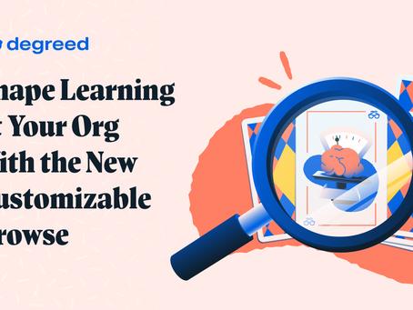 カスタマイズ可能な新ブラウズページで組織の学習を導く