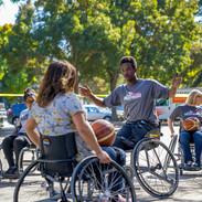 Playing Wheelchair Basketball