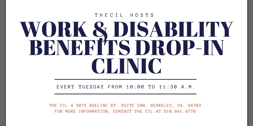 Work and Disability Benefits Drop-In Clinic