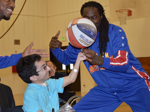 Harlem Globetrotters Play Wheelchair Basketball in Oakland