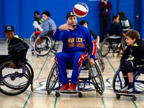 Harlem Globetrotters Play Wheelchair Basketball with The CIL
