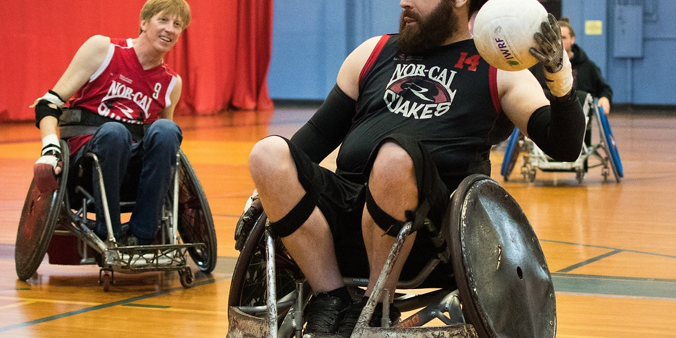 Quad Rugby and Wheelchair Lacrosse Practice