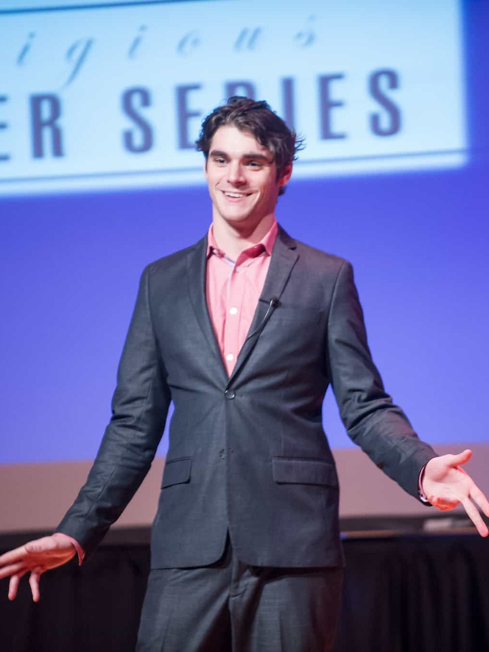 RJ Mitte on stage