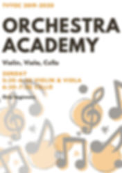 Orange and Dark Grey Notes Jazz Poster.j