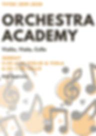 Orange and Dark Grey Notes Jazz Poster.j