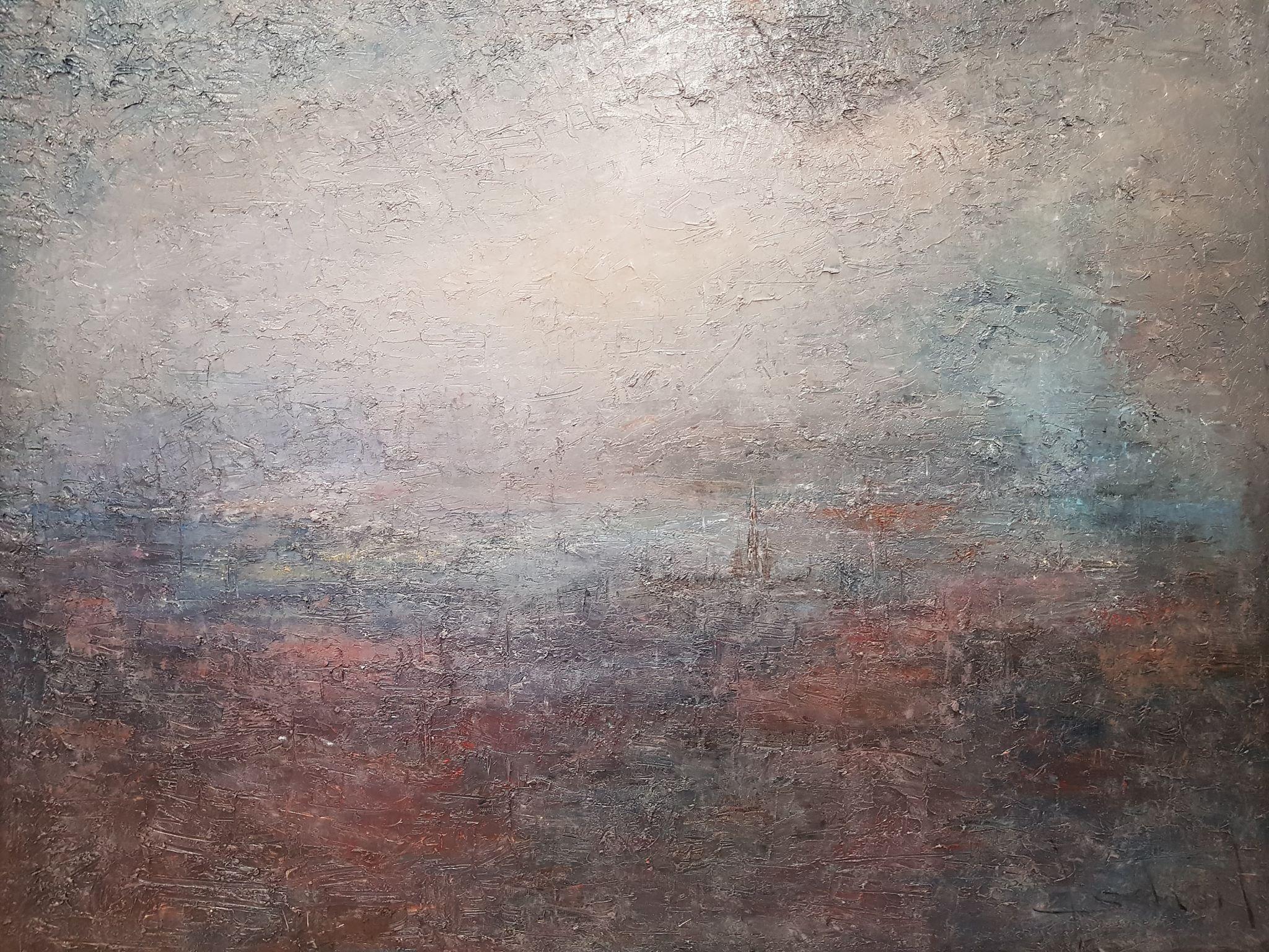 Peinture à Huile, vue sur Rouen