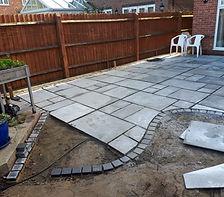 a newly laid patio