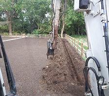 excavator digging new garden
