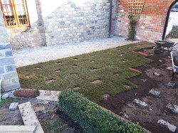 Turfing with cobbles