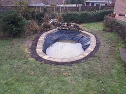 Creation of sunken garden pond