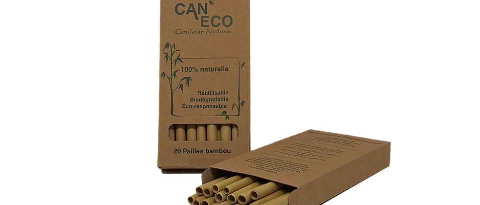 BOÎTE 20 PAILLES (+ 2 gratuites) avec ÉCOUVILLON COCO