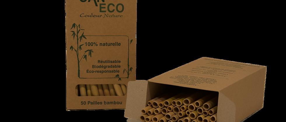 BOÎTE 50 PAILLES (+ 2 gratuites) avec ÉCOUVILLON COCO
