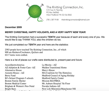 2009 Holiday Letter