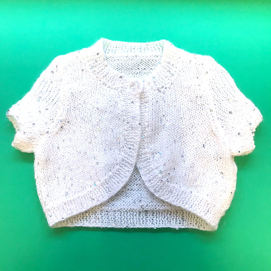 1 - 2 Years Sparkly Sequinned White Shrug