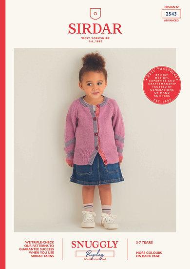 Sirdar 2543 Childrens Chevron Cardigan Double Knitting Pattern