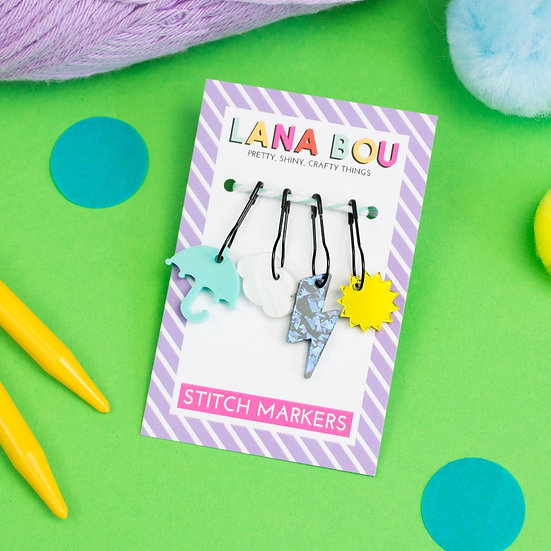 Blame It On The Weatherman Stitch Markers
