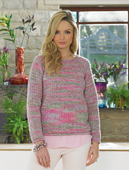 James C. Brett JB416 Soft roll Neck Sweater Double Knitting Pattern