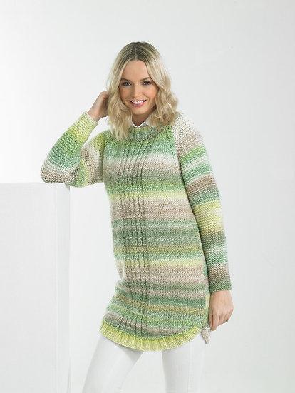 James C. Brett JB668 Longline Chunky Sweater Knitting Pattern