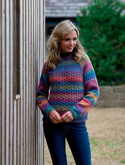 James C. Brett JB553 Raglan Sleeve Chunky Sweater Knitting Pattern