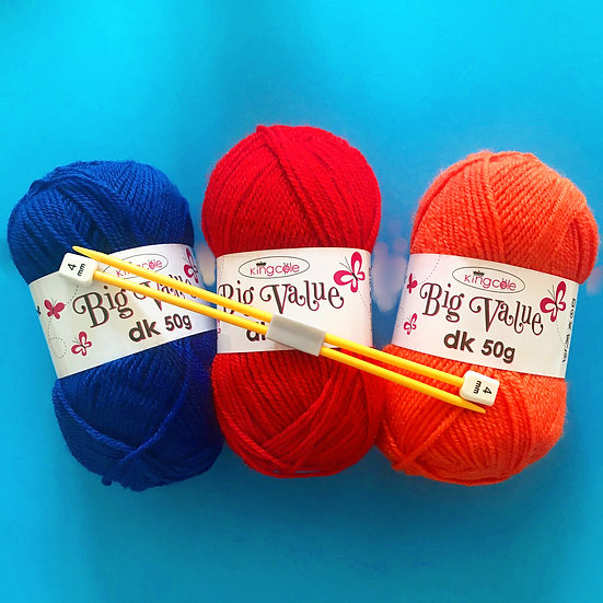 Children's Learn To Knit Kit